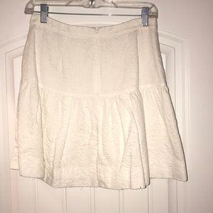 J. Crew Skirts - JCrew White Matelasse Drop Waist Skirt, Size 2